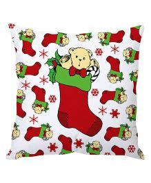 StyBuzz Christmas Cushion Cover - White Red Green