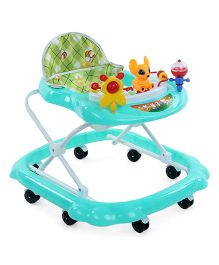 Musical Baby Walker With Play Tray - Sea Green