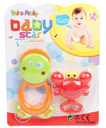 Baby Star Animal Shape Rattle Set Of 2 (Color May Vary)