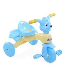 Musical Tricycle With Storage Basket - Light Yellow And Sky Blue
