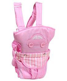 2 Way Car Design Baby Carrier Pink - 003