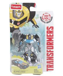 Transformers Funskool RID Warrior Class Figure Black Yellow Blue - 7 cm