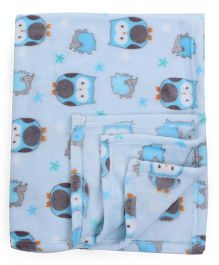 Honey Bunny Coral Blanket - Blue