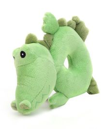 Honey Bunny Ring Rattle Crocodile - Green