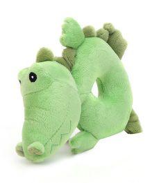 Honey Bunny Ring Rattle Crocodile - Green