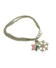 Tiny Closet Star & Snowflakes Bracelet - Silver