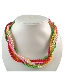 Tiny Closet Pearls Necklace Twisted - Multicolor