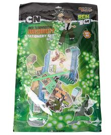 Sticker Bazar Ben 10 Stationery Set Of 10 - Green