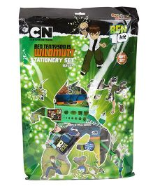 Sticker Bazaar Ben 10 Stationery Set Pack Of 12 - Green