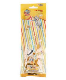 Sticker Bazaar Tom And Jerry Stationery Set Pack Of 5 - Yellow