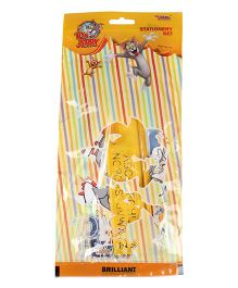 Sticker Bazaar Tom And Jerry Stationery Set Pack Of 7 - Yellow