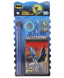 Sticker Bazaar Batman Stationery Set Pack Of 6 - Blue