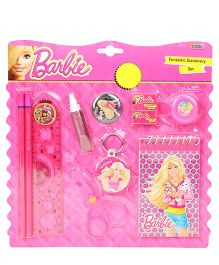 Sticker Bazaar Barbie Stationary Kit Pack of 11 - Pink