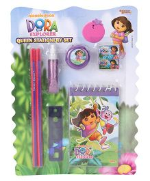 Sticker Bazaar Dora Stationery Set Pack Of 8 - Purple
