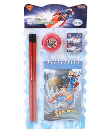 Sticker Bazaar Superman Stationery Set Pack Of 6 - Blue