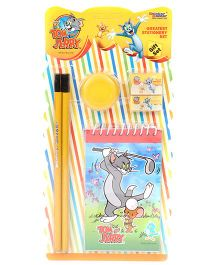 Sticker Bazaar Tom And Jerry Stationary Kit Pack of 6 - Yellow