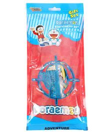 Sticker Bazaar Doraemon Stationery Set Pack Of 7 - Blue Red