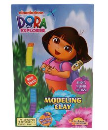 Sticker Bazaar Dora Modeling Clay Pack of 6 - Multicolour