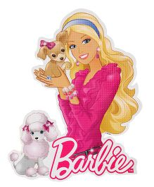 Sticker Bazaar Barbie Cut-out A4 Size - Pink