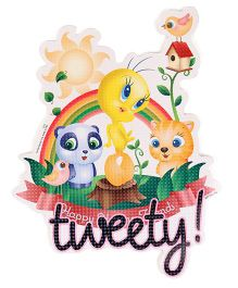 Sticker Bazaar Tweety Cut-out A4 Size - Multi Color