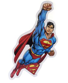 Sticker Bazaar Super Man Cut-out A4 Size - Red Blue