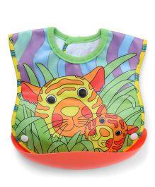 Sassy Crumb Catcher Feeding Bib - Multicolor
