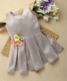 Shu Sam & Smith English Moor Dress With Flower - Grey