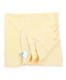 Honey Bunny Fleece Blanket - Yellow