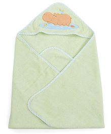 Owen Hooded Towel And Wash Cloth Pack Of 2 - Green