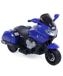 Battery Operated Bike Ride On - Blue & Black