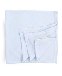 Honey Bunny Receiving Blanket - Blue