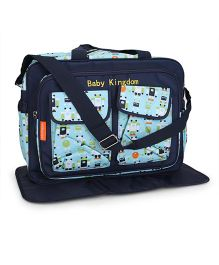 Mother Bag With Changing Mat Robot Print - Navy