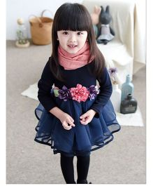 Cherubbaby Full Selves Tutu Dress With Flowers - Blue