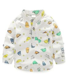 Cherubbaby Fun Print Full Sleeves Shirt - White