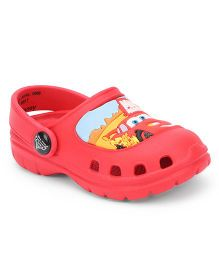 Disney Clogs With Back Strap Pixar Car Design - Red