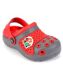 Angry Birds Clogs With Back Strap - Grey Red