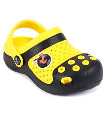 Angry Birds Clogs With Back Strap - Yellow Black