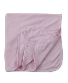 Ohms Terry Blanket - Light Pink