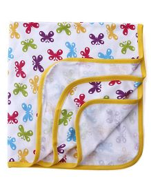 Ohms Terry Blanket - White Yellow