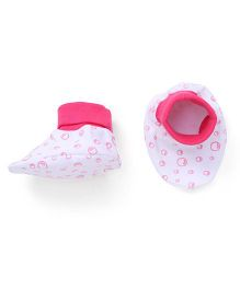Ohms Printed Booties - Pink White