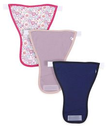Ohms Nappies With Velcro Small Pack Of 3 - Pink Navy
