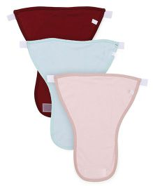 Ohms Cloth Nappies Velcro Closure Large Pack Of 3 - Pink Maroon Mint Green