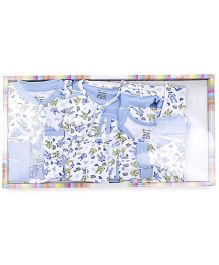 Ohms Clothing Gift Set Bunny Print Pack Of 12 - Blue