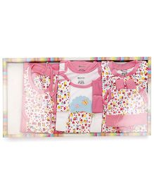 Ohms Clothing Gift Set Hearts And Ladybug Print Pack Of 12 - Pink