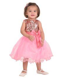 The Kidshop Sequins Embellished Party Dress - Copper & Pink