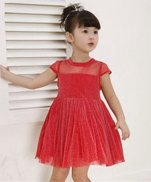The Kidshop Glitter Party Dress - Red