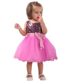 The Kidshop Sequins Embellished Party Dress - Purple