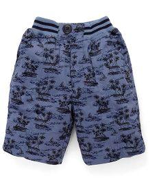 Jash Kids Printed Jamaican Shorts - Blue