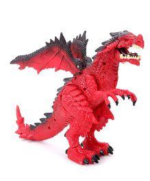 Comdaq Battery Operated Dragon Figure Red - 24 cm