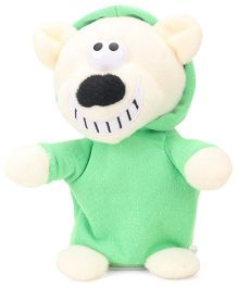 Woody O Time DJ Bear Battery Operated Soft Toy Green - 16 cm